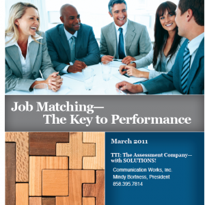 Job Matching- The Key to Performance