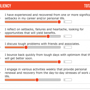 Focus on:  Resiliency (Bouncing back from Adversity)